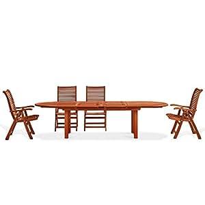Table ovale en bois naturel mod. Pivoine 72 x 180 x 70 cm, table de ...