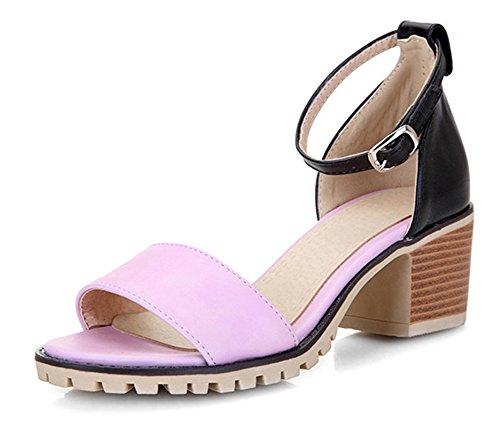Aisun Cinturino Multicolore Open Sandali Rosa Toe Chic Caviglia Donna Alla CPwqcECrxZ