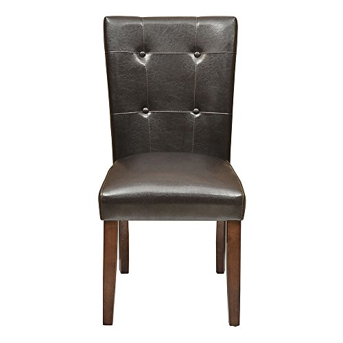 @home by Nilkamal Sage Single Seater Dining Chair with Cushion (Beige and Walnut)