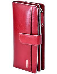 Visconti portafoglio di pelle da donna a piegatura doppia VR10