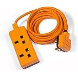 Masterplug exs1324o 4m double extension Laisse–Orange