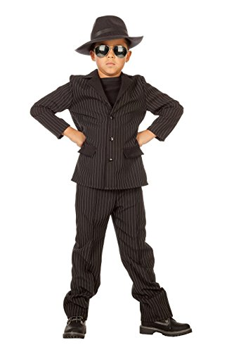 Wilbers 3896 Mafiagangster Anzug/Sakko Kinderkostüm Der Pate Nadelstreifen Kostüm Karneval Fasching Kinder 164 (Mafia Anzug Kostüme)