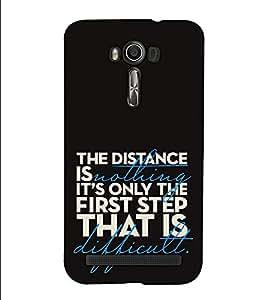 Fuson Designer Back Case Cover for Asus Zenfone 2 Laser ZE500KL (5 Inches) (The distance is nothing)