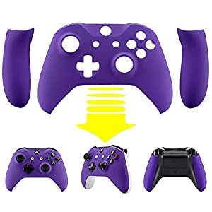 eXtremeRate Xbox One S/X Controller Hülle Gehäuse Case Cover Schutzhülle Schale Faceplates mit 2 Griff Grip Seitenteilen für Xbox One S/Xbox One X Controller