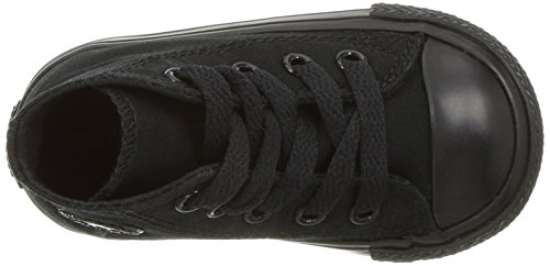 Converse Chuck Taylor All Star Hi, Baskets Hautes Mixte Enfant Noir (Black)