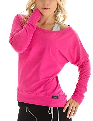 WINSHAPE Damen Longsleeve Freizeit Sport Dance Fitness Langarmshirt, pink, XS