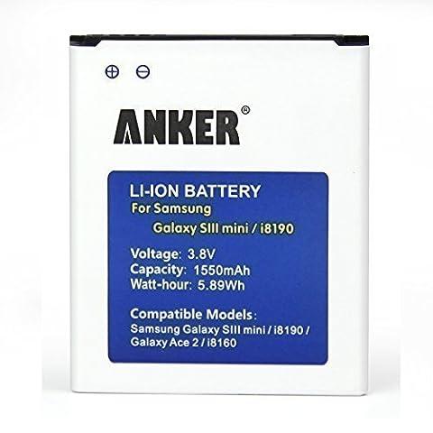 Galaxy S3 mini Akku, Anker 1550mAh Li-ion Akku für Samsung Galaxy S3 mini GT-I8190 i8190 / Ace 2 / GT-I8160 / S Duos S7562, ersetzt EB425161LU