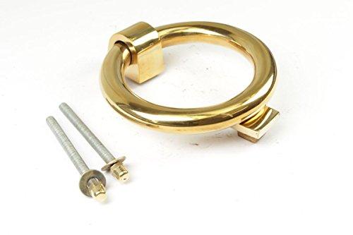 Türklopfer Ring aus massivem Messing poliert   Professionelle Reproduktion nach historischem Vorbild