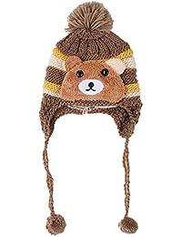 dacda10cee6 TIWA Fancy Woolen Kids Cap for Baby Girl and Baby BOY Winters Beanie Ear  EARNER Infant