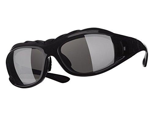 Multi-glas (Multi-Sportbrille Sonnenbrille mit 3 Gläser für alle Sichtverhältnisse Schwarz)