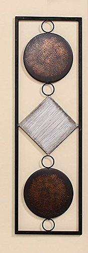 S&D Wand-Objekt aus Metall braun/beige, 65 cm hoch, Wandbild Wanddekoration