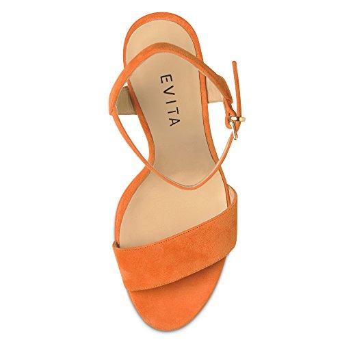 VALERIA sandales femme daim Orange