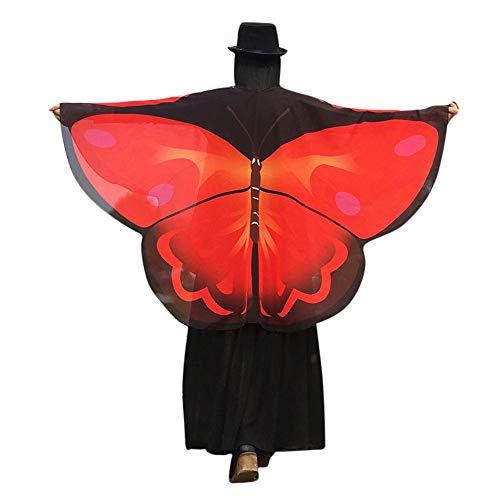 WOZOW Damen Schmetterling Schmetterlingsflügel Kostüm Faschingkostüme Poncho Schal -