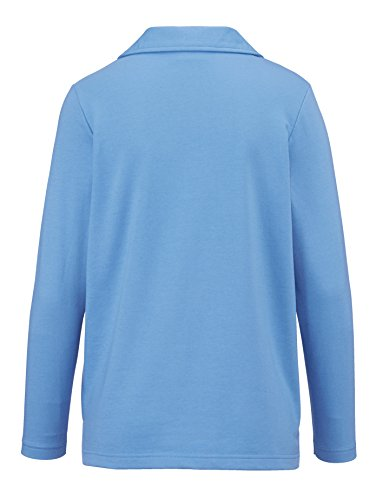 Damen Sweatshirt mit Ziernähten by Paola Jeansblau