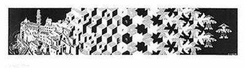 M.C. Escher – Metamorphosis I Poster Drucken (91,44 x 25,40 cm)