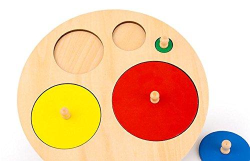 Enzhe Pädagogisches Spielzeugpuzzle Kreative Holz Lernpuzzle Früherziehung Formen Farbe Spielzeug Fantastische Geschenke Für Kinder (Kreis) - Kreis Holz-puzzle