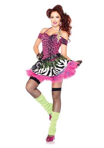 Totally 80's Kostüm - Leg Avenue 85164 - Totally 80's Amy Kostüm, Größe S/M, rosa
