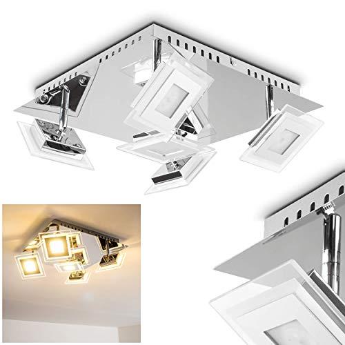 Plafoniera faretto led quadrato design moderno- faretti orientabili da soffitto per camera da letto- luce bianca calda ideale come plafoniera soggiorno