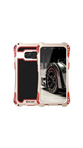 ELECTROPRIME R-JUST Amira Series Metal Tri-Proof Phone Case 360 Degree Full Protect Back Cover Protective Shell High Quality with Tempered Glass