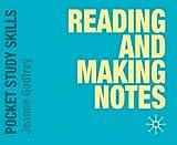 Reading and Making Notes (Pocket Study Skills)