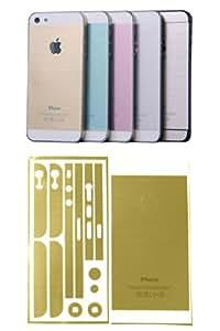 smartec24® iPhone 5 / 5S Fullbody Designschutzfolie metallic-gold. Fullbody Designfolie für die Rücken- und Seitenteile Ihres iPhone 5 und 5S