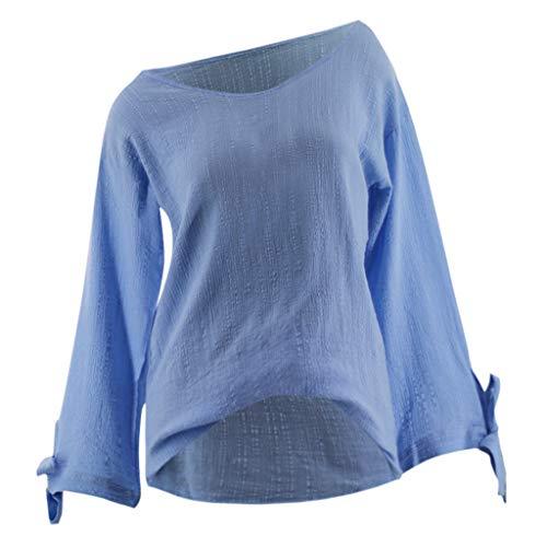 HEETEY Herbst und Winter Sweatshirt Pullover Tops Frauen Oansatz Normallack beiläufige Lange Hülsen-Bindungs-Hülsen-Blusen-Hemd-Oberseiten Langarmshirts Tops Sweatshirt Oberteil Pullover -