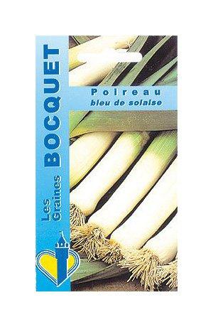 Les Graines Bocquet - Graines De Poireau Bleu De Solaise - Graines Potagères À Semer - Sachet De 4Grammes