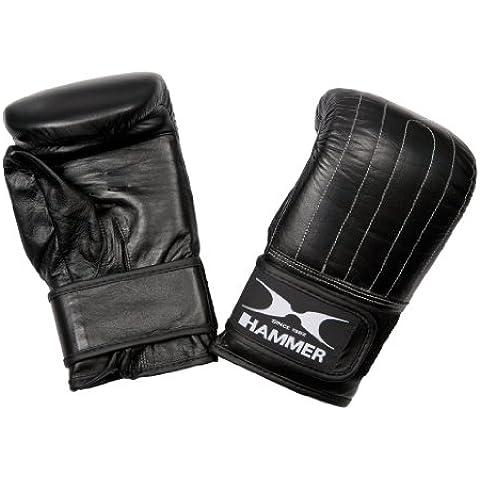 Hammer Premium - Guante de boxeo para saco de arena (piel de vacuno, talla S/M), color negro
