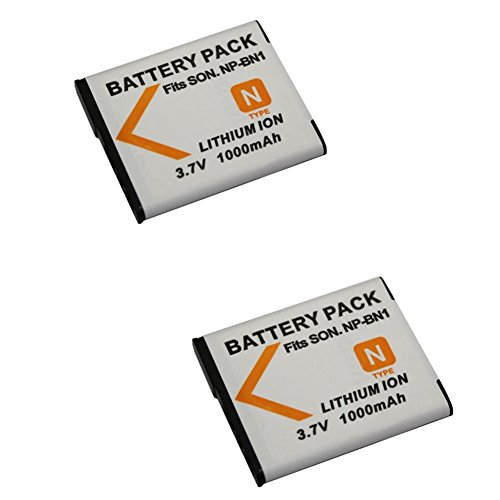 2 stücke 1000 mAh BN1 Batterie für Sony DSC-WX100 WX9 WX50 WX7 W510 W320 W310 W330 TX10 TX100 T110D Kamera Tx1 Kamera