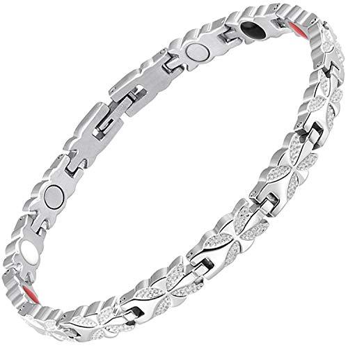 Damen Magnetisch bracelets-all sizes-negative Ion Armband Balance Armband Arthritis Schmerzen bei Karpaltunnelsyndrom Sehnenscheidenentzündung Tennis Handgelenk Gesundheit bracelet-bfs 22.5 cm / 8.85 in