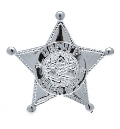 Blister Card Sheriffs Badge Metal for Party Favour or Fancy Dress Accessories by Pams