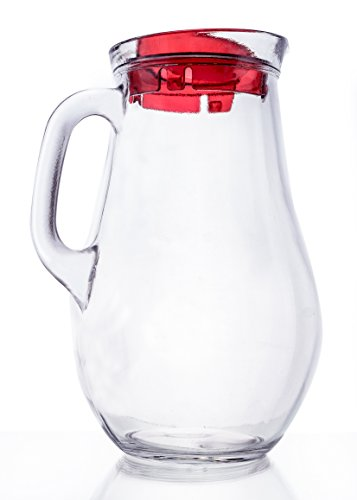 silkwater Krug Glas, klar 1,9Quart Casual rot Ewer-vase