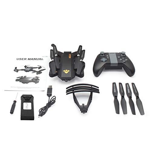 Noradtjcca XS809HW 2.4G Plegable FPV Selfie Drone RC Quadcopter Con cámara WiFi Control de modo sin cabeza Modo sin cabeza 360 ° (Camaras Para Exteriores)