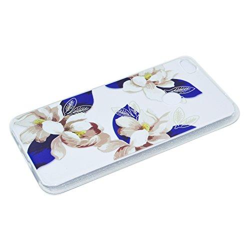 Meet de iphone 6 /iphone 6S Coque Ultra Mince Antidérapant TPU Silicone Mat Caoutchouc Gel Housse Étui Cover Case Pare-chocs Souple Ultra Mince pour iphone 6 /iphone 6S - Tournesol Camellia