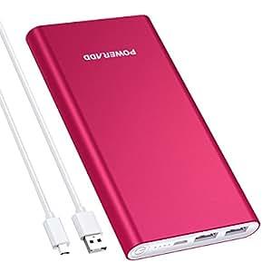 Poweradd Pilot 2GS 10000mAh Batterie Externe Portable Deux Ports USB de Sortie pour iPone 6, iPhone7, iPad, iPad Mini, Samsung, Huawei et d'autres Smartphones