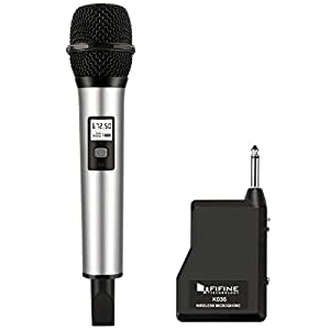 fifine 25 channel uhf handheld wireless microphone for church home karaoke business meetings. Black Bedroom Furniture Sets. Home Design Ideas