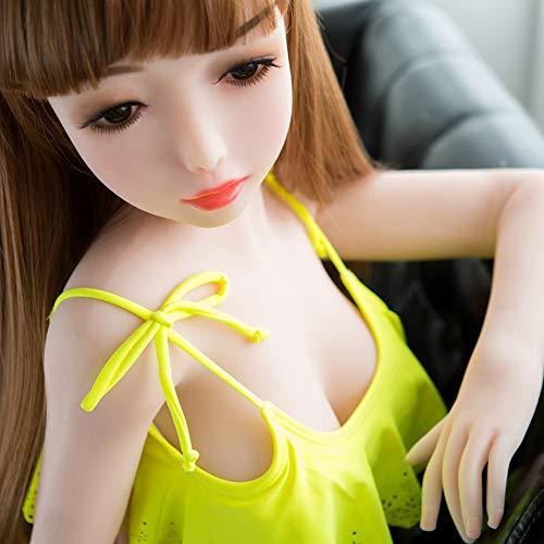 Realista Love Doll 3D Silicone Entity Toys para Hombre TPE Silicon Doll Lindo Metal Esqueleto Female Body Modelo 115 Cm - Adult Natural Skin 3 Holes