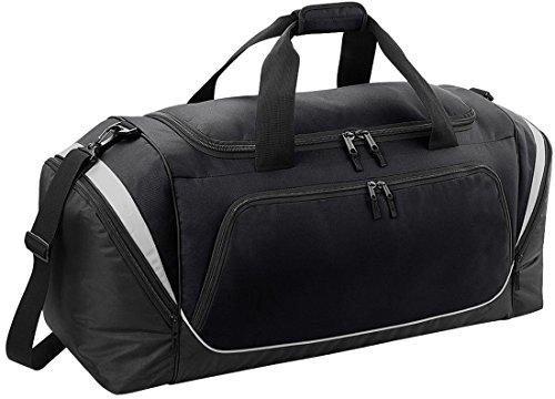Quadra Pro Team-Borsone da sport, Borsa per Kit di borsa da viaggio Borsone Black/ Light Grey