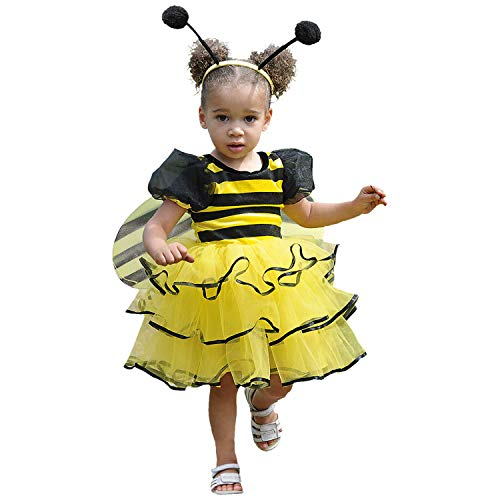 Bee Kleinkind Kostüm - Mädchen Kleinkinder Bumble Bee Kostüm 18-24 Monate