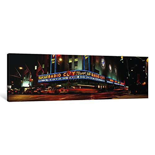 iCanvasART 1Stück, Manhattan, Radio City Music Hall, NYC, New York City, New York State, USA Kunstdruck auf Leinwand, Panorama Bilder, 121,9x 40,6cm/3,8cm Tiefe - Radio City Music Hall Manhattan