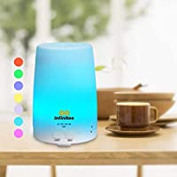 ‏‪infinitoo Essential Oil Diffuser, infinitoo 300ml Aroma Diffuser | Aromatherapy | Humidifier with Cool Mist | Long Lasting with 4 Timer Settings & 7 Color LED Lights for Bedroom, SPA, Office‬‏