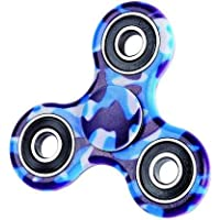 Premsons® Four Bearing Printed Hand Tri Spinner - Camouflage Blue