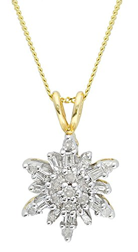 adara-9-ct-two-tone-gold-025-ct-diamond-snowflake-pendant-and-chain-of-length-18-inch