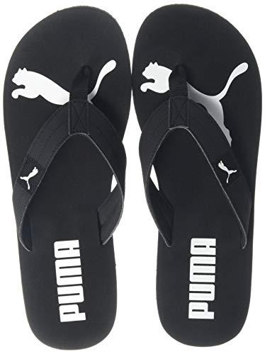 Puma Unisex-Erwachsene Cozy Flip Dusch-& Badeschuhe, Black White 01, 40.5 EU