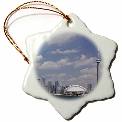 Kanada, Tower Cn (3drose Skyline, CN Tower, Toronto, Ontario, Kanada CN08cmi0056Cindy Miller Hopkins Schneeflocke Ornament, Porzellan, 7,6cm)