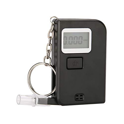 Semme Éthylotest, d'alcool Portable Testeur, Afficheur LCD Numérique avec 5 Embouchures pour Un Usage Domestique