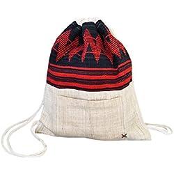 Bolsa mochila divertida de virblatt, hecha de 100 % cáñamo y con correas como soportes - Erfrischend
