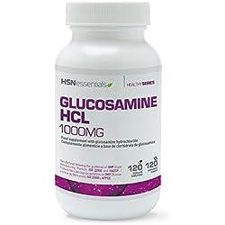 Glucosamina HCl de HSN Essentials - Antiinflamatorio Natural, Suplemento para el dolor articular - Promueve la salud de las articulaciones y la función del cartílago - 120 tabs