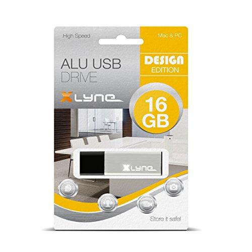 XLYNE 16GB USB-Stick 2.0 ALU High Speed, Design Flash Laufwerk