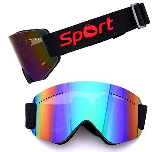 Antibeschlag- und Sandschutz-Skibrille - Überbrillen Ski- / Snowboardbrille Für Männer, Frauen und Jugendliche - 100% UV-Schutz Brille (Farbe : Grün) - Frauen-ski-schutzbrillen Grün